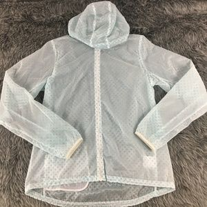 NIKE Running Translucent Rain Jacket Polka Dot
